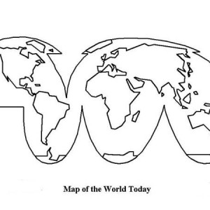 Map Of The World Today In World Map Coloring Page