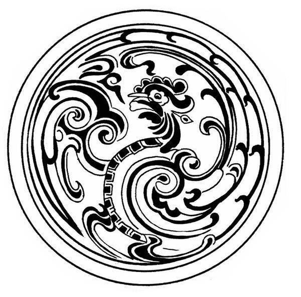 Medallion Mandala Hen Mosaic Coloring Page - Download ...