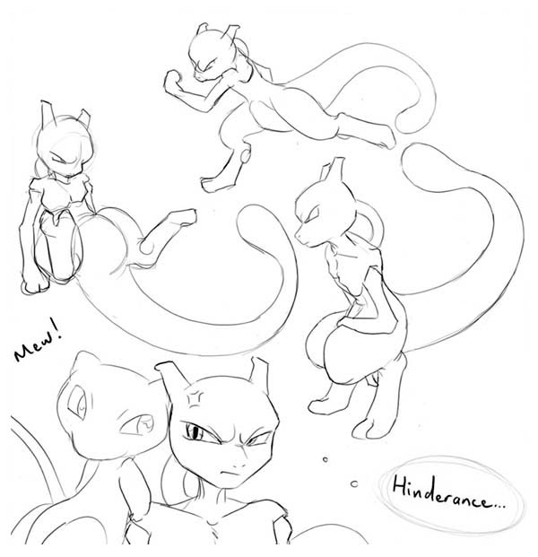 Mewtwo Awesome Sketches Coloring Page - Download & Print ...