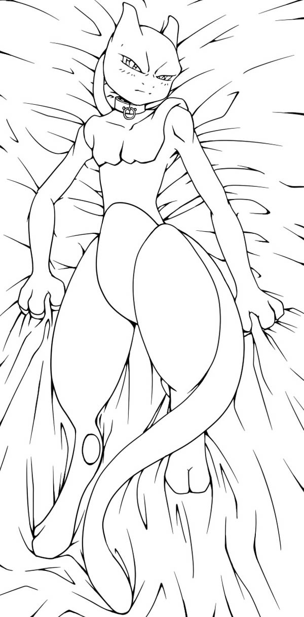 mewtwo lie down on bed coloring page download amp print