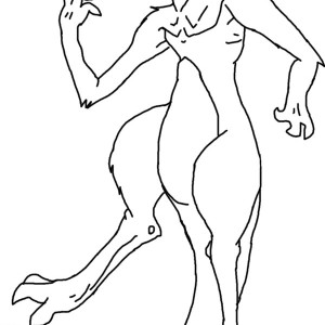 Mewtwo Outline Coloring Page