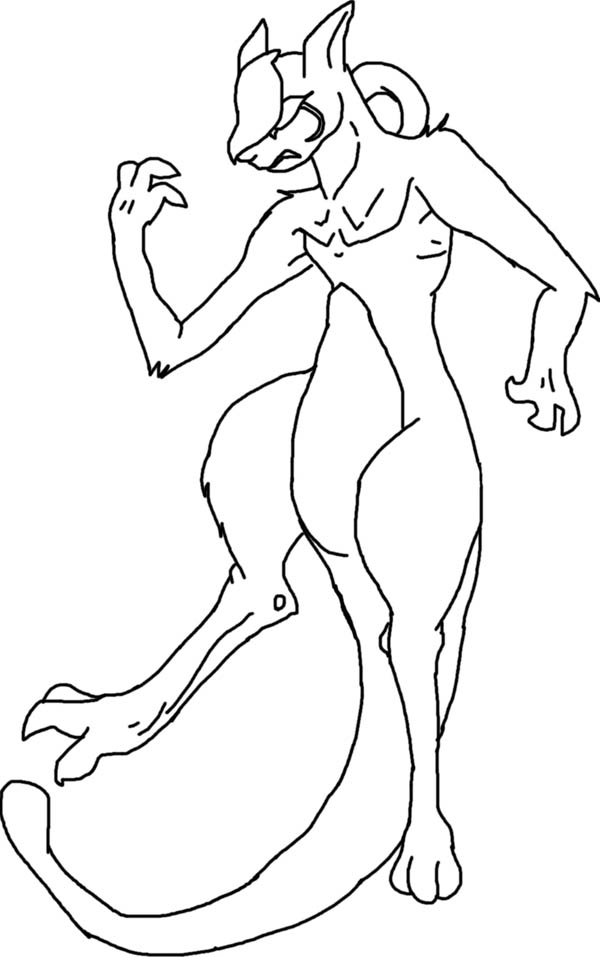 Mewtwo Outline Coloring Page Download Amp Print Online