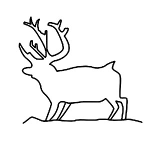 Moose Outline Coloring Page