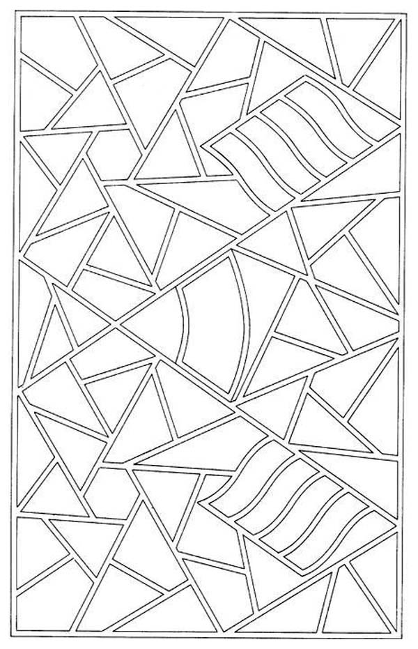 Mosaic Patter Coloring Page Download