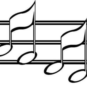 Music Notes Sheet Coloring Page