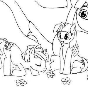My Little Pony Poster Coloring Page