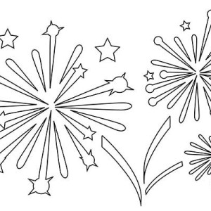 New Years Fireworks Coloring Page