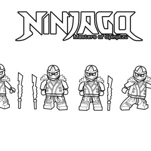 Ninjago Is Ninja Master Of Spinjitzu Coloring Page
