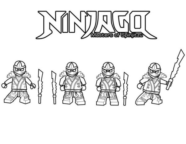 Ninjago Is Ninja Master Of Spinjitzu Coloring Page
