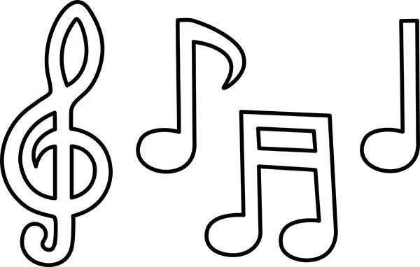 Picture Of Music Notes Coloring Page Download Amp Print
