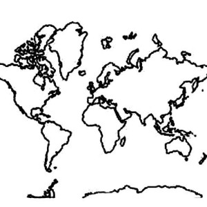 Picture Of World Map Coloring Page