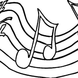 Play Your Song With Music Notes Coloring Page