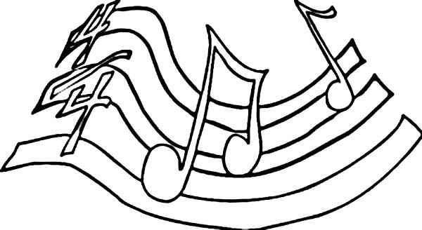 Play Your Song With Music Notes Coloring Page Download