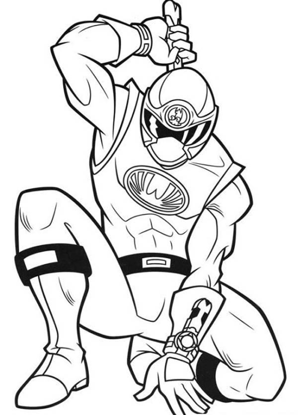 Power Rangers Ninja Storm Get Ready Coloring Page
