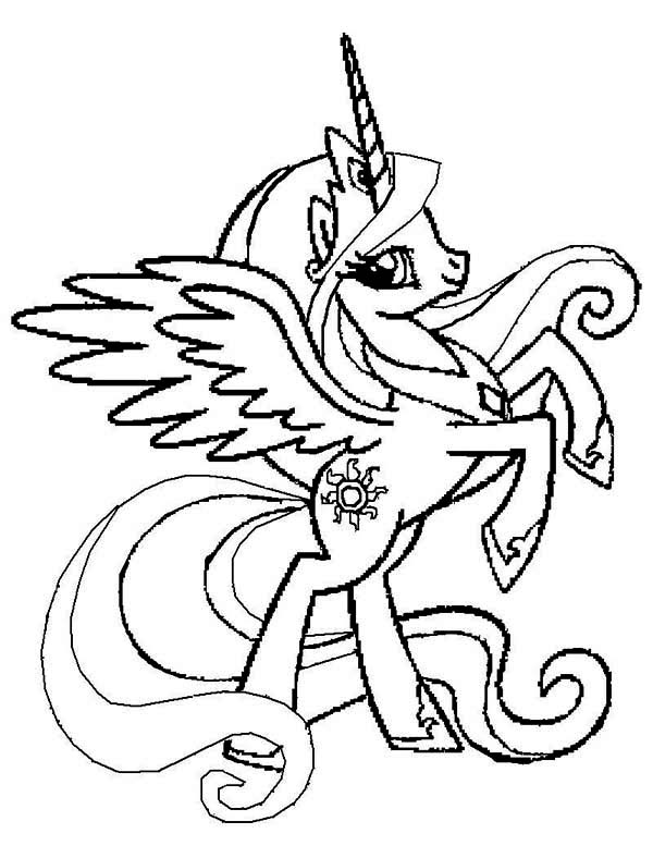 baby coloring pages celestia - photo#14