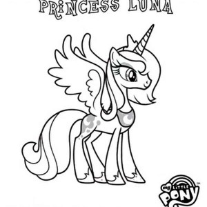 Princess Luna In My Little Pony Coloring Page