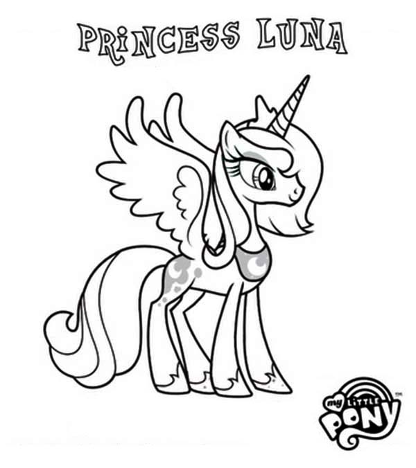Princess Luna In My Little Pony Coloring Page Download Print