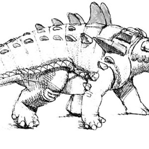 Realistic Picture Of An Ankylosaurus Coloring Page