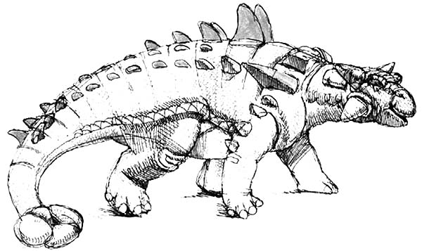 realistic picture of an ankylosaurus coloring page. Black Bedroom Furniture Sets. Home Design Ideas