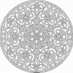 Sacred Geometry Mosaic Coloring Page
