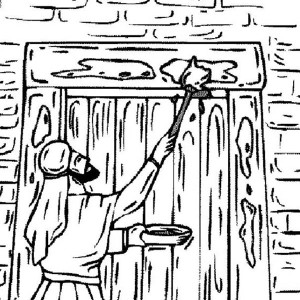 The Israelites Marking Their Door On Passover Coloring Page