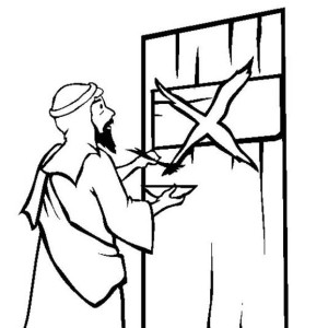 The Story Of Passover By Marking The Israelites Door Coloring Page