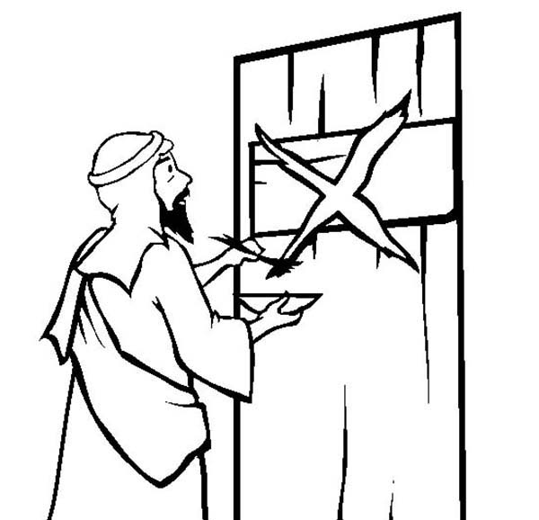 the story of passover by marking the israelites door coloring page download print online coloring pages for free color nimbus israelites door coloring page