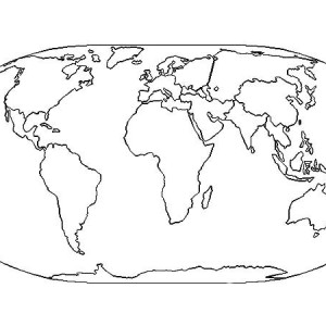 The Very Best World Map Coloring Page