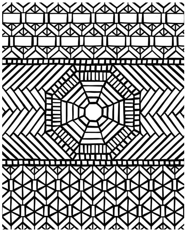 Traditional Pattern Mandala Mosaic