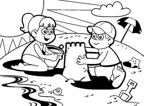 Sand Castle coloring page | Free Printable Coloring Pages | 441x600