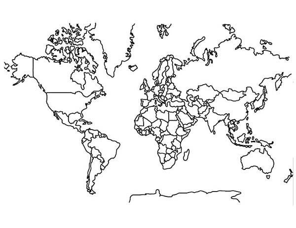- World Map Coloring Page - Download & Print Online Coloring Pages For Free  Color Nimbus