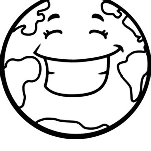 A Happy Earth On Earth Day Coloring Page