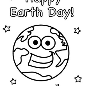 Happy Earth Day To All Coloring Page