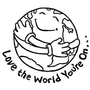 Love The World You Are On At Earth Day Coloring Page