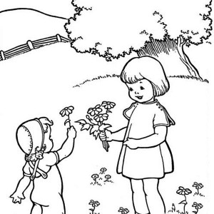 May Is The Month Of Springtime Coloring Page