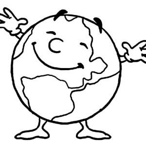 Mr Earth Day Is Very Happy Today Coloring Page
