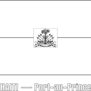 Nation Flag Of Haiti Coloring Page