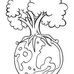 Save Our Forest On Earth Day Coloring Page
