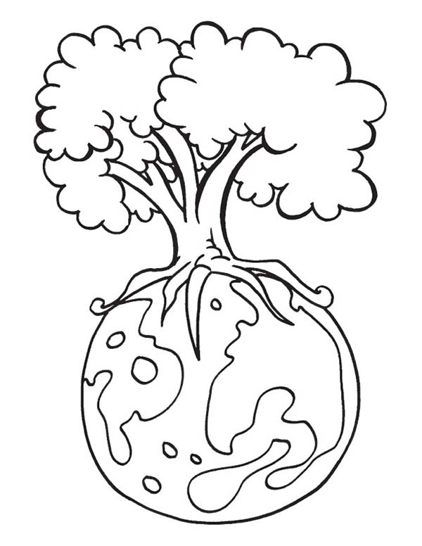 Save Our Forest on Earth Day Coloring Page - Download