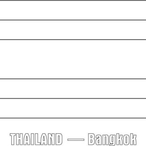 Thailand Nation Flag Coloring Page