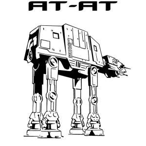 AT AT In Star Wars Coloring Page