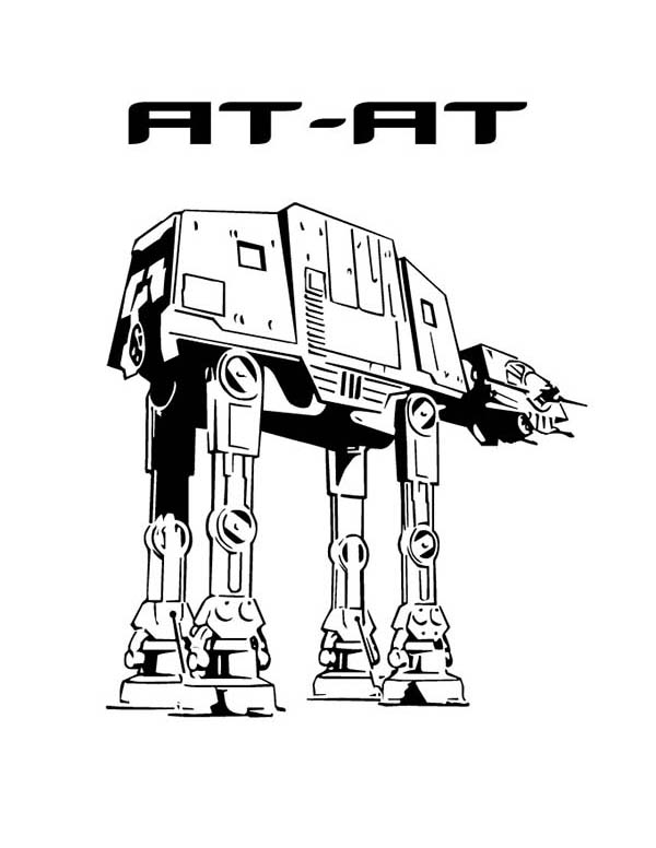 At At In Star Wars Coloring Page Download Amp Print Online
