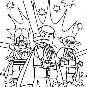 Awesome Lego Of Star Wars Characters Coloring Page