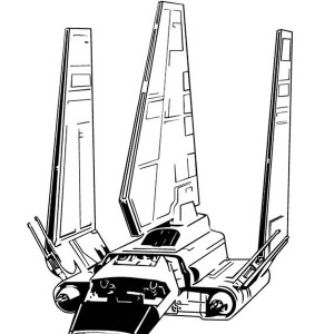 Awesome Tyridium Shuttle In Star Wars Coloring Page