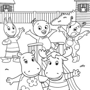 Backyardigans And Friends On Summertime Coloring Page