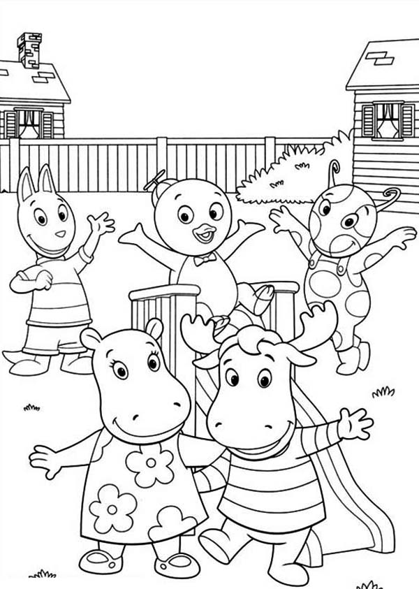 Backyardigans And Friends On Summertime Coloring Page Download