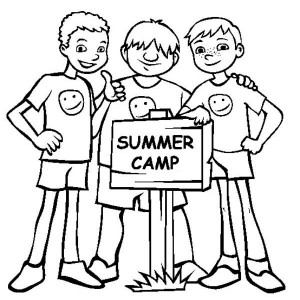 Bestfriends On Summer Camp Coloring Page