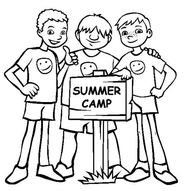 Bestfriends On Summer Camp Coloring Page Download Print Online