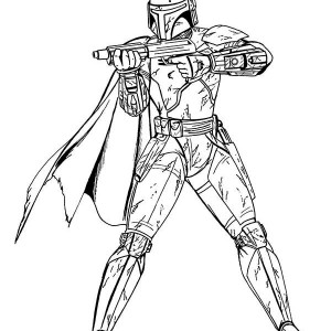 Boba Fett In Star Wars Coloring Page