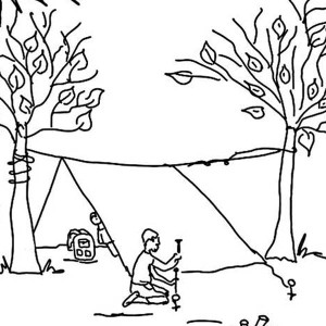 Build Tent For Summer Camp Coloring Page
